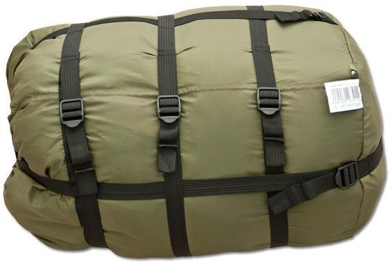 На мешке три ремня, которые позволяют уменьшить упакованный мешок в объеме. Уникальный низкотемпературный спальник-одеяло с большим объемом утеплителя Tengu Mark 73SB