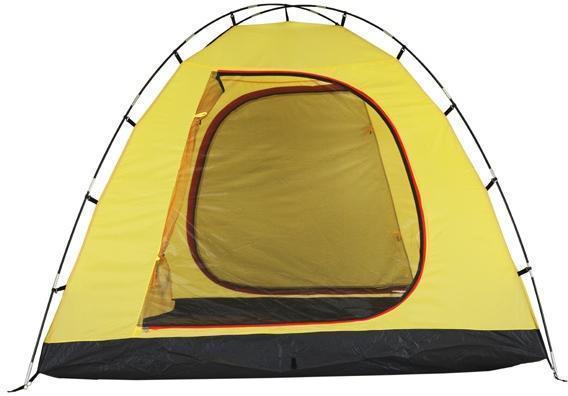 Застегнута только антимоскитная сетка. Застегнута только антимоскитная сетка. Кемпинговая палатка с большим тамбуром и тремя входами KSL Campo 4 Plus зеленый