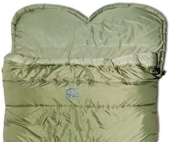 Пристегивающийся подголовник при средних морозах можно трансформировать в капюшон. Уникальный низкотемпературный спальник-одеяло с большим объемом утеплителя Tengu Mark 73SB