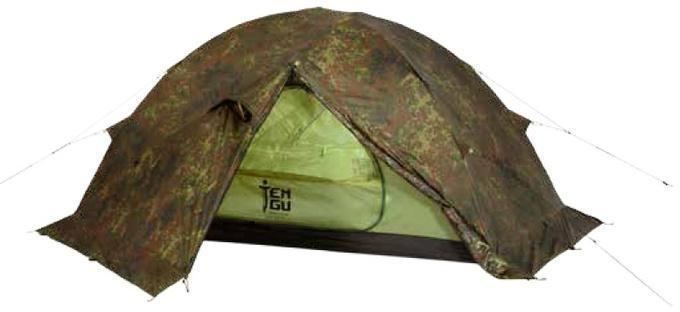 Палатка на базе высокогорной альпинистской палатки Tengu MK1.08T3 камуфляж, Палатки 3-местные - арт. 370830321