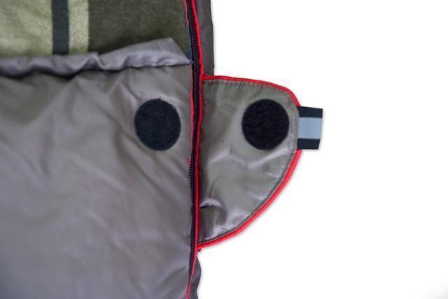 Круглая липучка Velcro (квадратные - отрываются по углам) и светоотражающий ярлык. Низкотемпературный спальный мешок-одеяло Canada Plus
