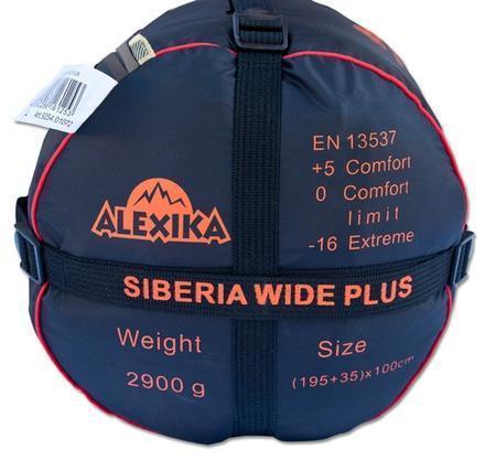 На мешке четыре ремня, утянув которые, вы можете уменьшить объем упакованного спальника. Кемпинговый спальный мешок большого размера Alexika Siberia Wide Plus