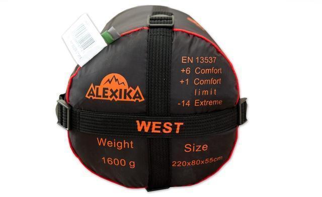 На мешке четыре ремня, утянув которые, вы можете уменьшить объем упакованного спальника. Облегчённый спальник на средние температуры Alexika West