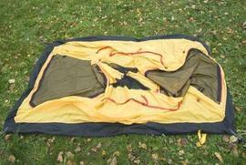 Разложить внутреннюю палатку Двухместная туристическая палатка с повышенной ветроустойчивостью. Alexika Nakra 2
