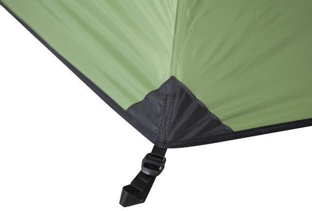 Стропа с фастексом для регулировки натяжения тента Стропа с фастексом для регулировки натяжения тента Трехместная туристическая палатка-полубочка с большим тамбуром KSL Half Roll 3 зеленый