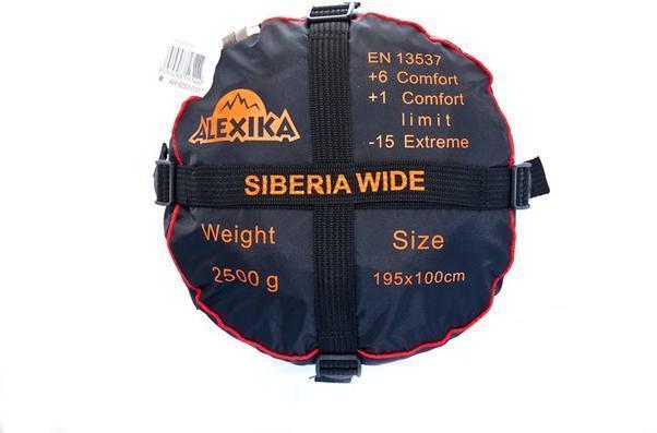 На мешке четыре ремня, утянув которые, вы можете уменьшить объем упакованного спальника. Спальник-одеяло шириной 1 метр для кемпинга и туризма Alexika Siberia Wide