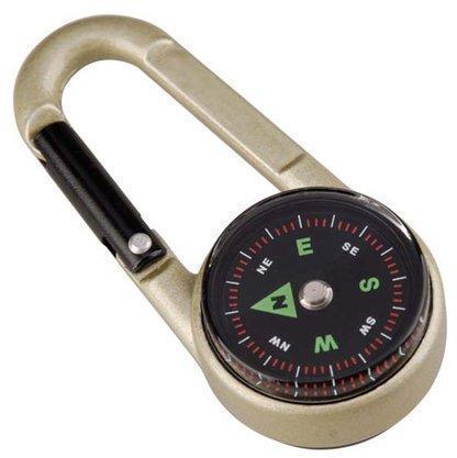 Карабин с компасом и термометром (упак=10 шт), 3135