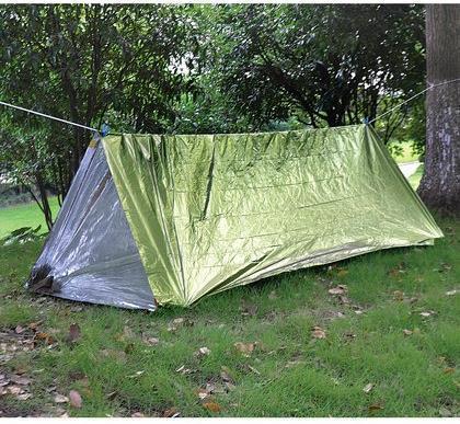 Палатка термосберегающая, туба AceCamp Reflective Tube Tent - Green 3953 - артикул: 319290319
