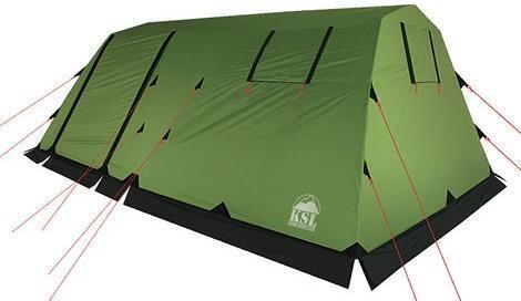 Кемпинговая палатка с двумя входами и большим тамбуром KSL Vega 5 зеленый