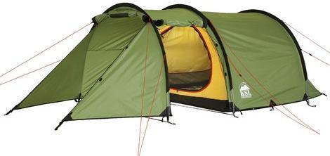 Трехместная туристическая палатка-полубочка с большим тамбуром KSL Half Roll 3 зеленый, Палатки 3-местные - арт. 314780321