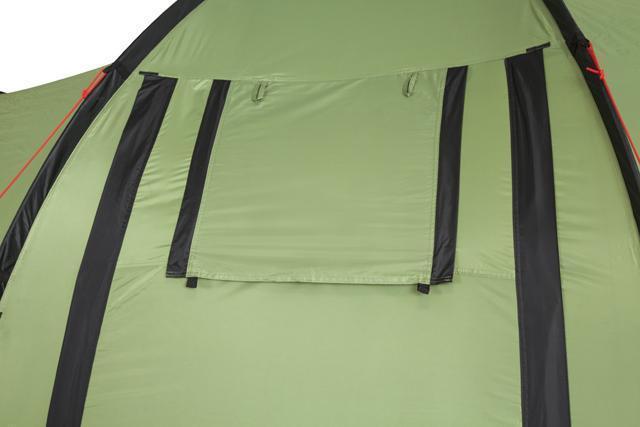 Окно полностью закрыто. Палатка с двумя спальнями (3+3) и большим тамбуром посередине KSL Macon 6