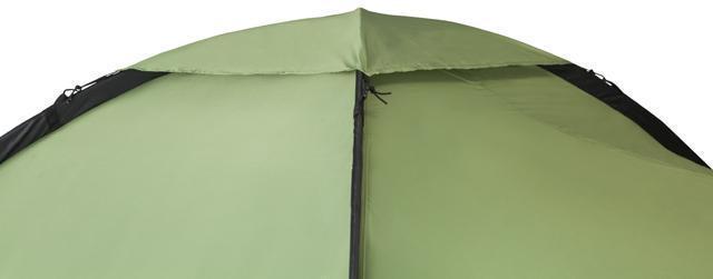 Дождевой клапан на куполе установлен. Палатка с двумя спальнями (3+3) и большим тамбуром посередине KSL Macon 6