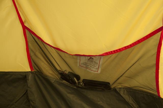 Карман для мелочей. Палатка с двумя спальнями (3+3) и большим тамбуром посередине KSL Macon 6