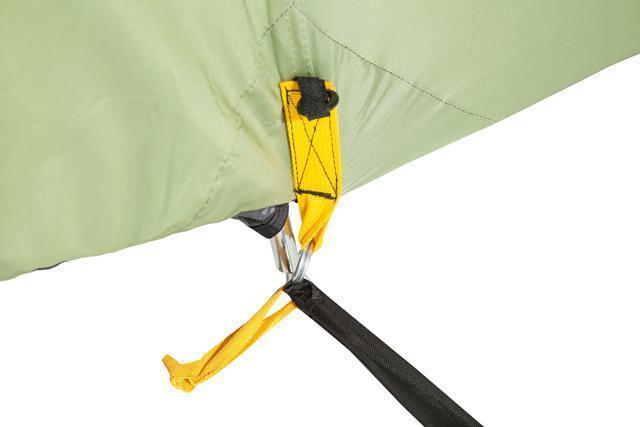 Цветная маркировка элементов палатки. Палатка с двумя спальнями (3+3) и большим тамбуром посередине KSL Macon 6