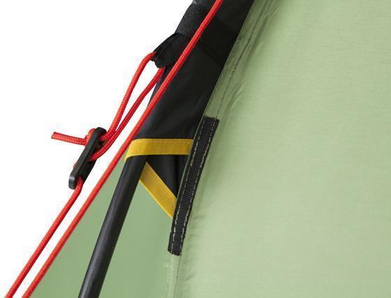 Цветная маркировка и усиление рукава для дуги. Палатка с двумя спальнями (3+3) и большим тамбуром посередине KSL Macon 6