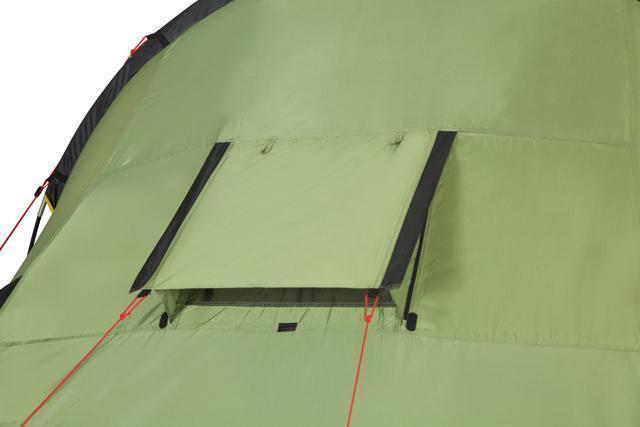 Регулируемое вентиляционное окно с антимоскитной сеткой. Палатка с двумя спальнями (3+3) и большим тамбуром посередине KSL Macon 6