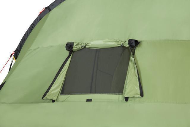 Окно полностью открыто. Палатка с двумя спальнями (3+3) и большим тамбуром посередине KSL Macon 6