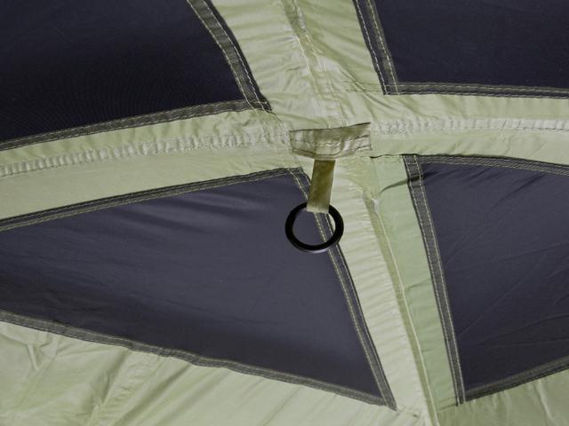 Кольцо дляфонаря под куполом. Четырехместная кемпинговая палатка с двумя спальнями и большим тамбуром KSL Macon 4
