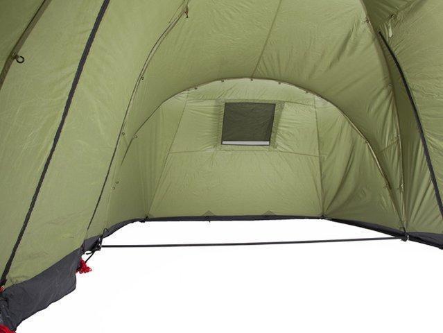 Большое внутреннее пространство для холла или кухни. Четырехместная кемпинговая палатка с двумя спальнями и большим тамбуром KSL Macon 4