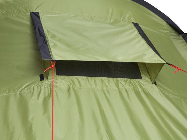 Рукав с усилением для дуги. Четырехместная кемпинговая палатка с двумя спальнями и большим тамбуром KSL Macon 4
