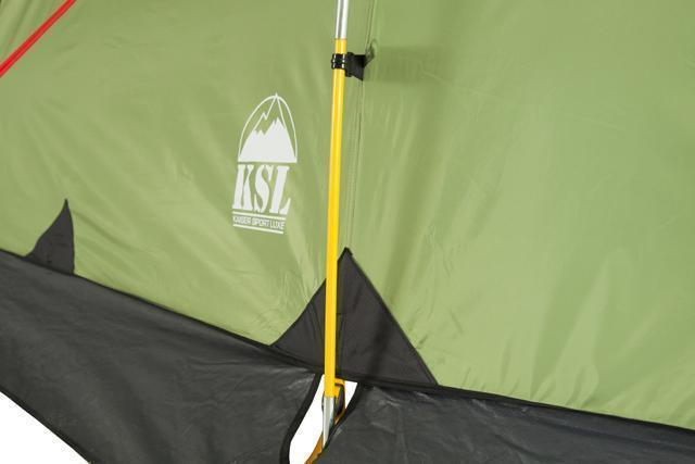 Цветная маркировка дуг и оттяжек. Трехместная кемпинговая палатка купольного типа KSL Rover 3
