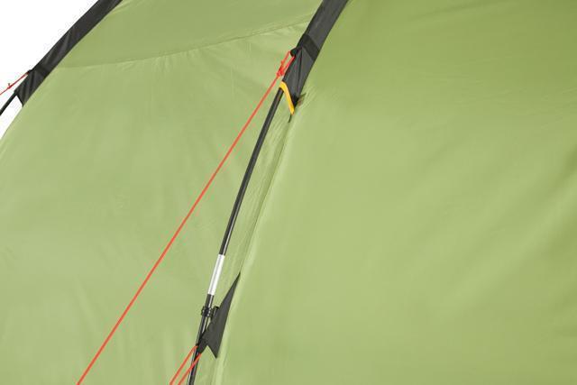 Двухточечные оттяжки для равномерного натяжения тента. Трехместная кемпинговая палатка купольного типа KSL Rover 3