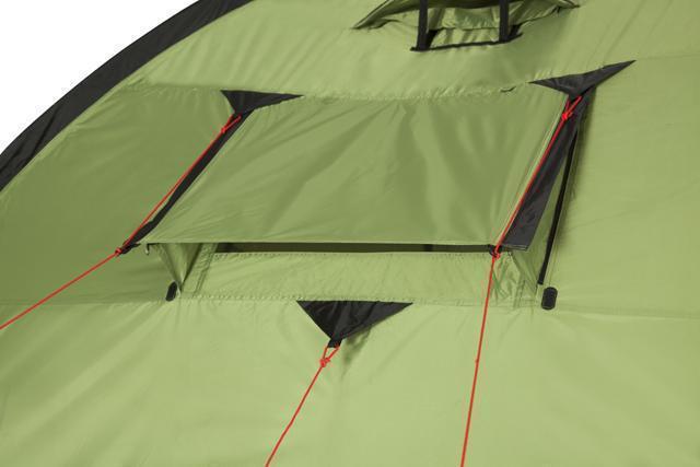 Регулируемое большое окно снаружи. Трехместная кемпинговая палатка купольного типа KSL Rover 3