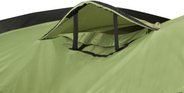 Малое окно с ветровым клапаном. Трехместная кемпинговая палатка купольного типа KSL Rover 3