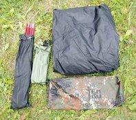 Комплект : внешний тент, дуги, колышки, чехол Легкая однослойная палатка Tengu MARK 19T