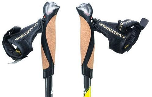 Профессиональная эргономичная рукоятка ESSENZA GRIP из пробкового дерева. Обеспечивает потоотвод и предотвращает скольжение. Предоставляет возможность произвести комфортный хват не натирая руки во время тренировки. Телескопические палки для скандинавской ходьбы Masters Training Speed