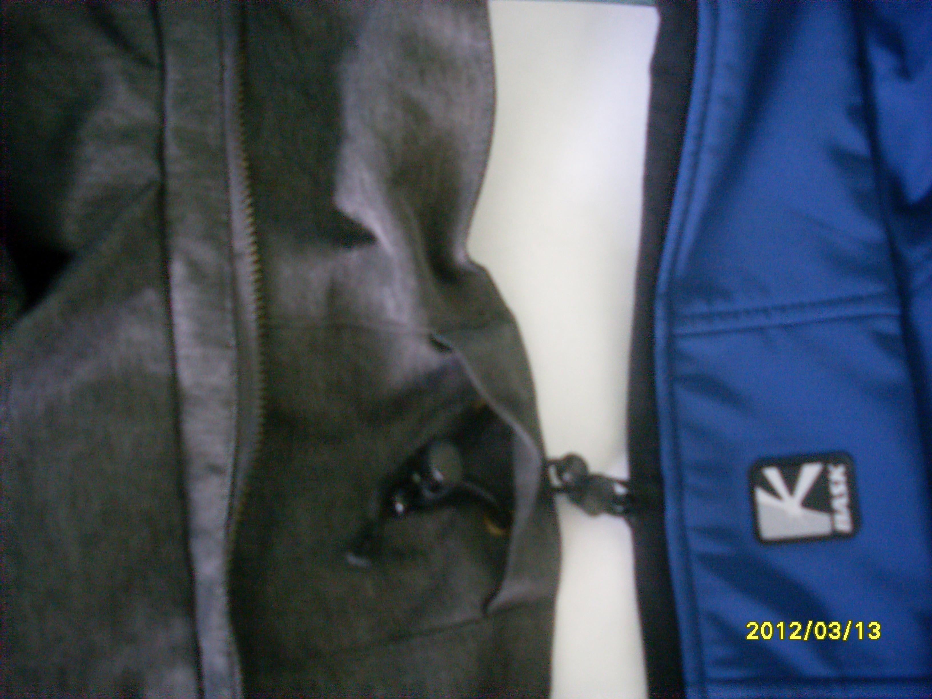Так можно спрятать стяжку. Куртка Баск PANZER V3