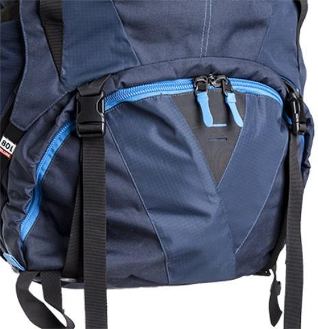 Доступ в нижнее отделение на молнии с двумя бегунками - Трекинговый туристический рюкзак для продолжительных походов Yukon 80