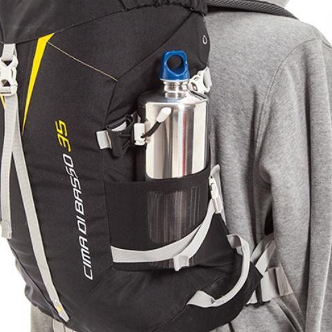 Боковые сетчатые карманы - Легкий горный рюкзак Cima di Basso 35 blue/carbon