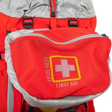 Ярко обозначенное отделение для аптечки - Женский трекинговый туристический рюкзак Isis 60 red