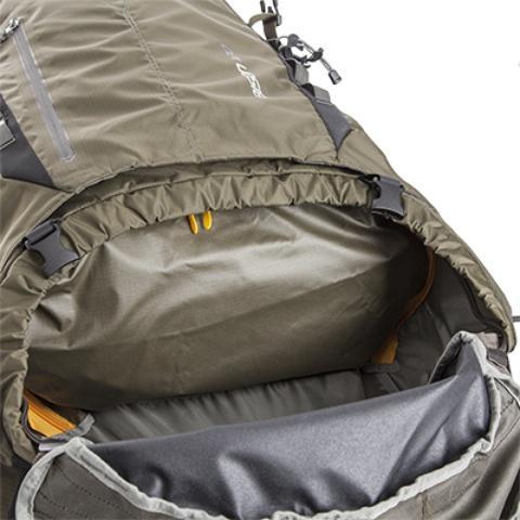 Перегородка на молнии между верхним и нижним отделением - Туристический рюкзак для переноски тяжелых грузов Bison 120 black