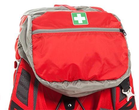 Ярко обозначенное отделение для аптечки - Спортивный рюкзак с подвеской X Vent Zero Vento 25 lemon