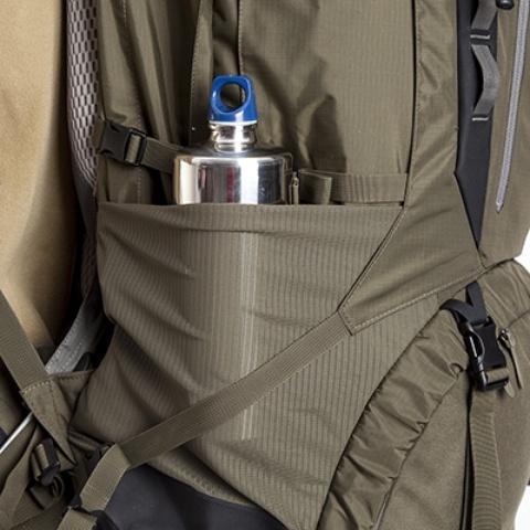 Боковые камраны на резинке - Туристический рюкзак для переноски тяжелых грузов Bison 120 black