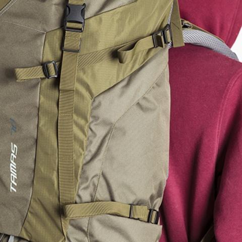 Боковые стяжки - Объемный и надежный туристический рюкзак Tamas 100 navy