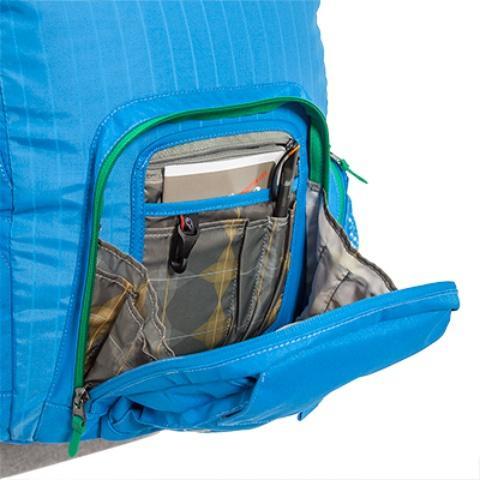 Органайзер для письменных принадлежноситей - Городской рюкзак с множеством карманов Kangaroo bright blue