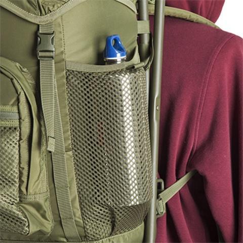 Боковые сетчатые карманы на резинке - Складной рыбацкий рюкзак-стул Fisherstuhl