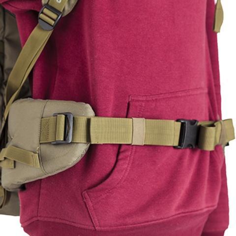 Широкий поясной ремень, регулируемый по ширине - Объемный и надежный туристический рюкзак Tamas 100 navy