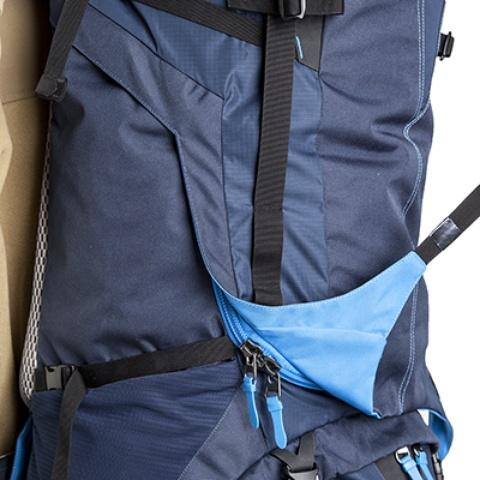 3D-доступ в основное отделение, молния тянется по всему периметру рюкзака - Трекинговый туристический рюкзак для продолжительных походов Yukon 70