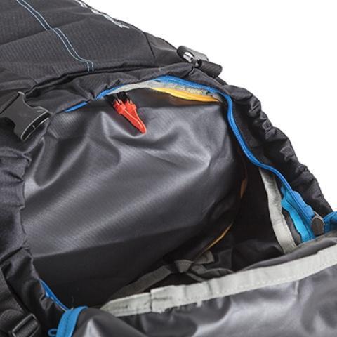 Перегородка на молнии между нижним и верхним отделением - Универсальный трекинговый туристический рюкзак среднего объема Tamas 70 black