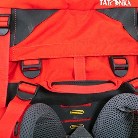 Регулируемая по высоте крышка рюкзака - Женский трекинговый туристический рюкзак Isis 60 red