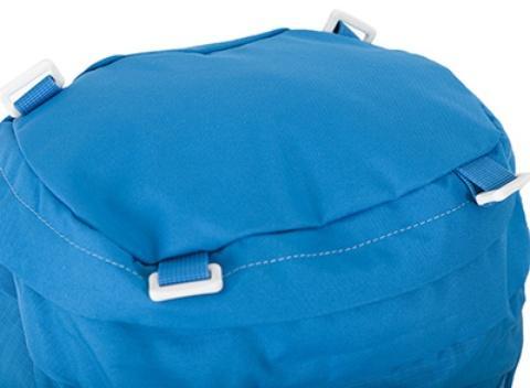 Петли на крышке рюкзака: можно закрепить куртку или шлем - Яркий и удобный рюкзак для путешественников старше 10 лет Mani lawn green