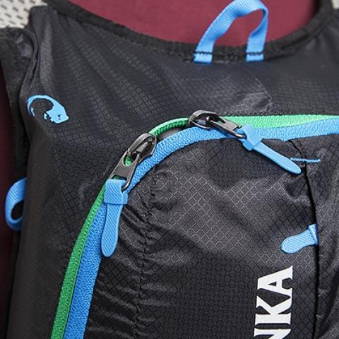 Центральная молния с двумя бегунками: легкий доступ к вещам - Легкий рюкзак для бега или велоспорта Baix 10