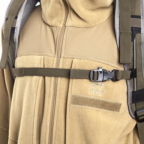 Регулируемый по ширине и высоте нагрудный ремень со свистком - Туристический рюкзак для переноски тяжелых грузов Bison 120 black
