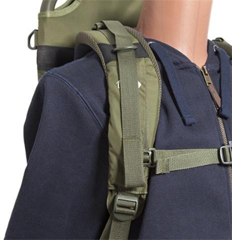 Широкие регулируемые лямки анатомической формы - Станковый рюкзак для переноски тяжелых грузов Lastenkraxe