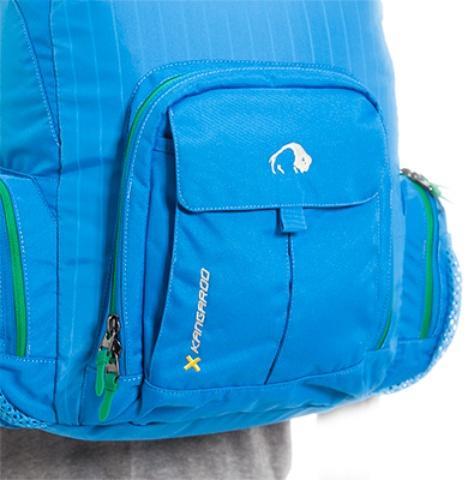Двойной центральный карман - Городской рюкзак с множеством карманов Kangaroo bright blue