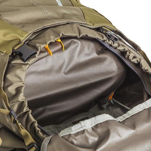 Перегородка на молнии между нижним и верхним отделениями - Объемный и надежный туристический рюкзак Tamas 120 navy